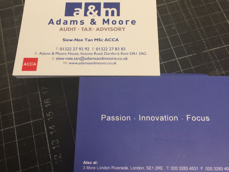 Examples of FV Repro business cards