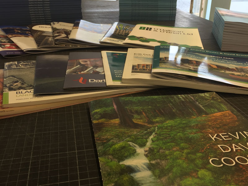 A range of brochures by FV Repro