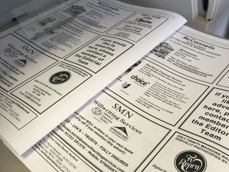 Range of newsletters printed by FV Repro