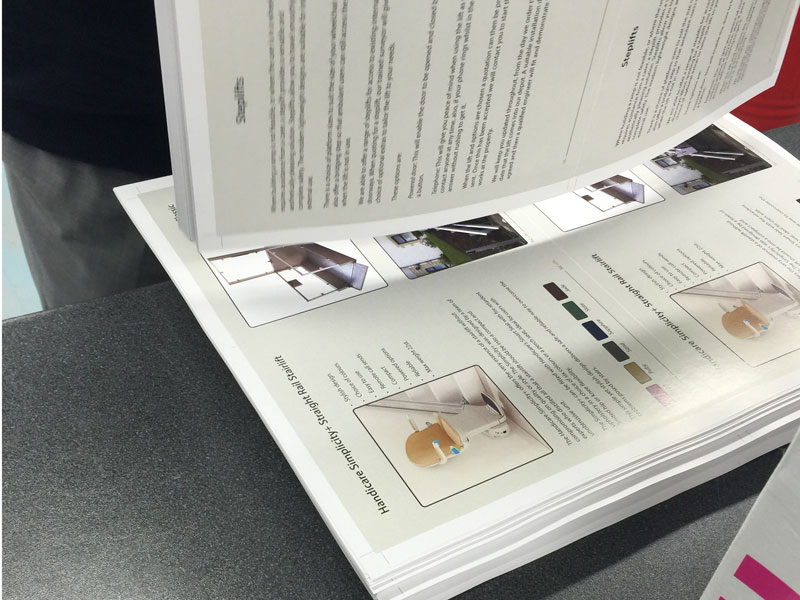 A range of digital printed brochures