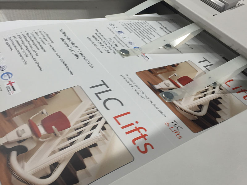 Digital printed leaflets