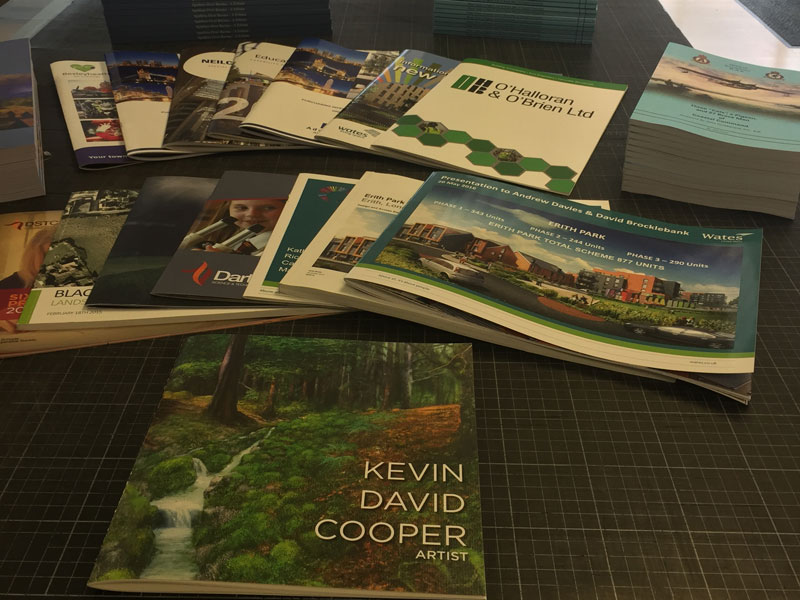 A selection of FV Repro brochures